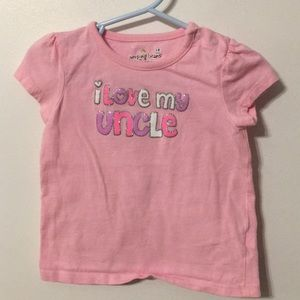 Jumping beans I love my uncle pink short sleeve